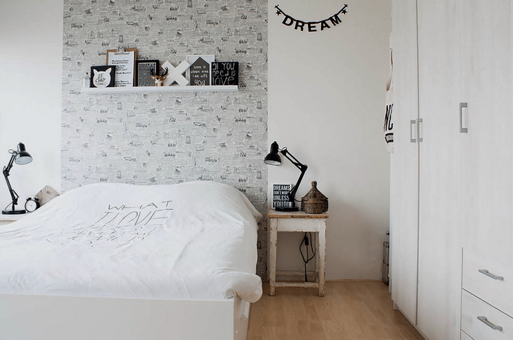 Scandinavian apartment with industrial touches digsdigs Industrial scandinavian bedroom