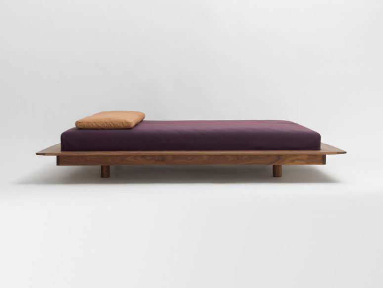 This is a cool Japanese-inspired bed that got a classic and modern European look