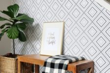 06 geometric wallpaper is a stylish choice that fits most decor styles