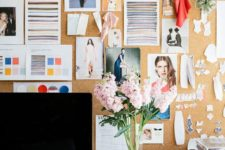 07 an oversized cork pinboard is a great idea to get inspired