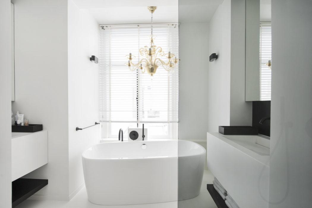 brass detail for a modern bathroom