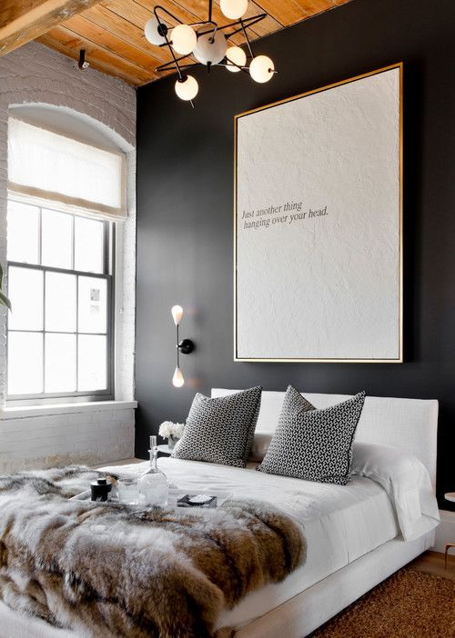 an oversized modern wall art will make a statement in the space