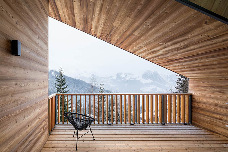 balcony in alps