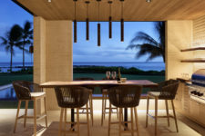 gorgeous dining space with a view