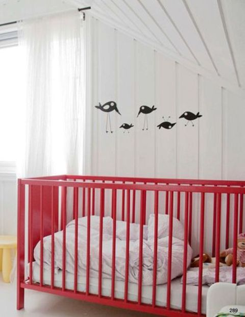 paint your IKEA cot with any paint you like, so that it fit your space