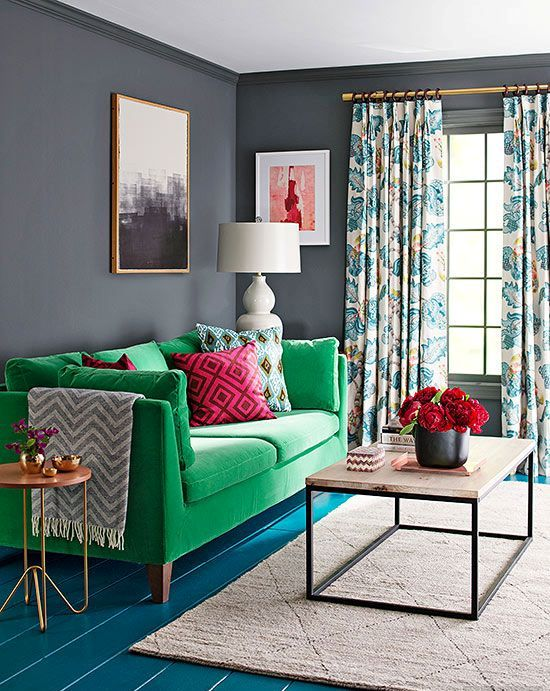 a bold green Stockholm sofa is a chic way to add color to your interior