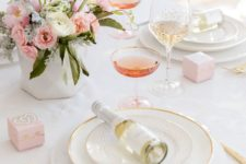 10 subtle table setting with blush and gold touches for an exciting lunch