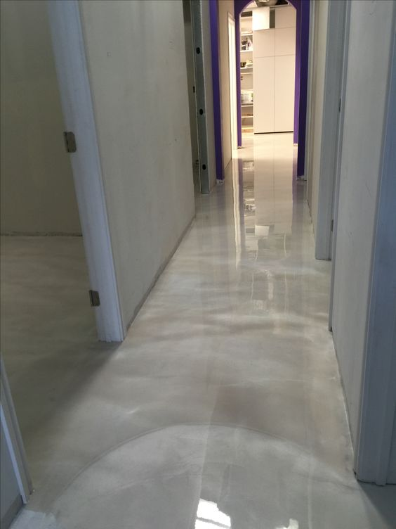 Elegant Pearly Epoxy Flooring Is A Practical Idea For The Public Spaces Of House