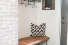 15 brign an industrial feel to your space with a hairpin leg and leather bench in the corner