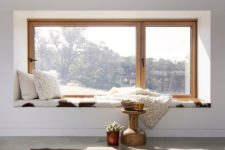 16 enjoy the views lying on a cool and comfy windowsill covered with faux fur
