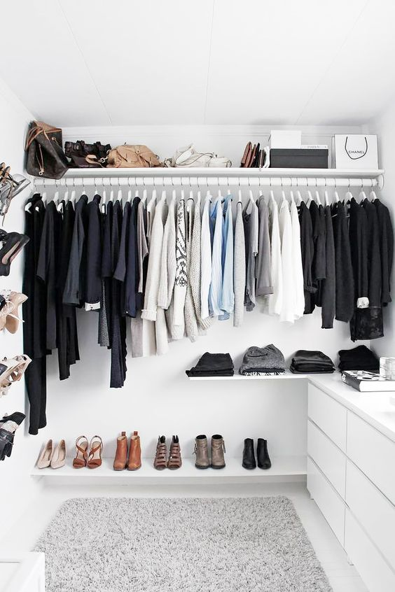 a comfy closet done with IKEA Pax items - choose the pieces to create your own custom space