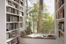 small yet cozy reading nook