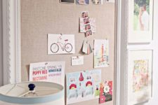 18 a pinboard of burlap in a frame is a cool idea to DIY and is comfy in using
