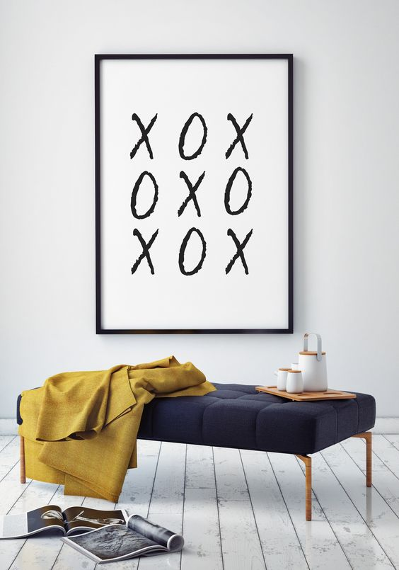 a large black and white XO sign for decorating any of your spaces
