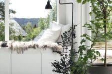 windowsill nook made with Besta units