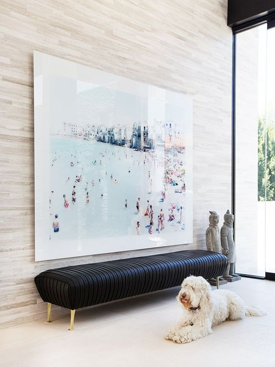 your own oversized photo can be the artwork you need to remind of the cool vacation