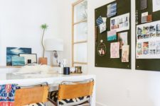 21 dark fabric pinboards make a bold statement and feature more space than one