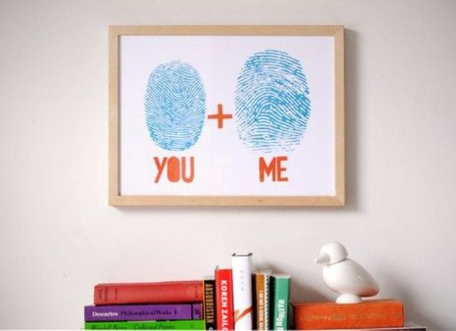 a simple finger print wall art can be easily DIYed by you