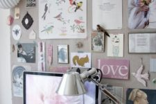 22 an oversized fabric pinboard is a great idea and you can easily make one yourself