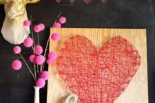 23 a string art red heart sign for a bold modern look