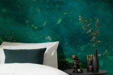 23 super bold emerald water wall mural for a relaxing touch and a bold color at the same time