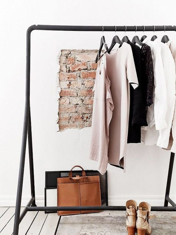 IKEA clothing rack may become a base for creating a makeshift closet