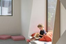24 a windowsill with a comfy seat can be used as a reading space for a kid