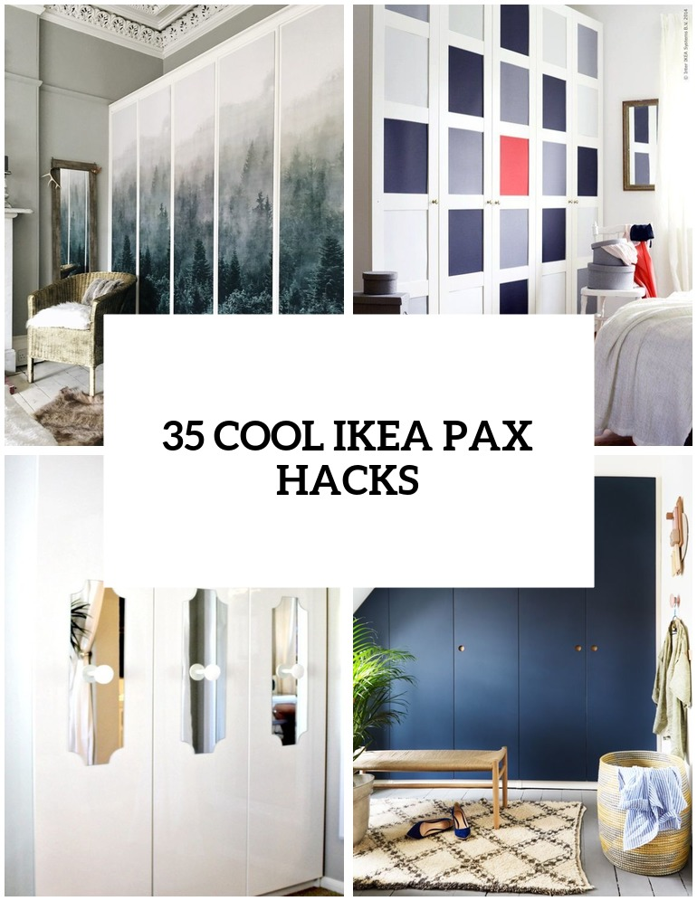 25 IKEA Pax Wardrobe Hacks That Inspire - DigsDigs