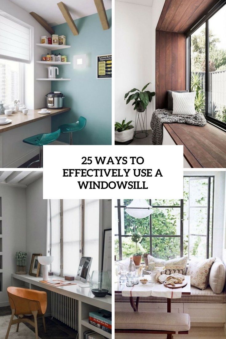 25 Cool Ways To Effectively Use A Windowsill