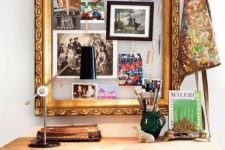 26 a creative pinboard of chicken wire and a chic refined frame can be DIYed and it's veyr comfy in using
