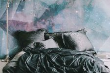 26 galaxy-inspired wall mural makes a bold statement in the space