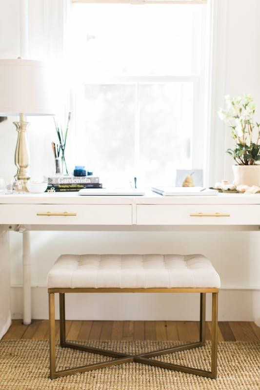 add some gorgeous brass pulls and the desk would shine
