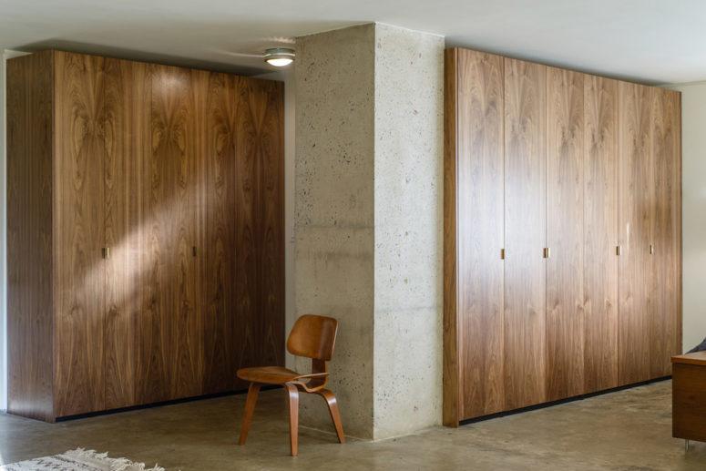 Flat-sawn walnut doors would definitely turn a PAX closet into a luxurious piece. (Semihandmade)