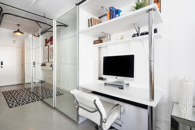 IKEA pax could work in a home office if you combine it with a desk. (Hunter Kerhart Photography)