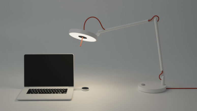 MyLiFi Lamp Providing An Internet Connection