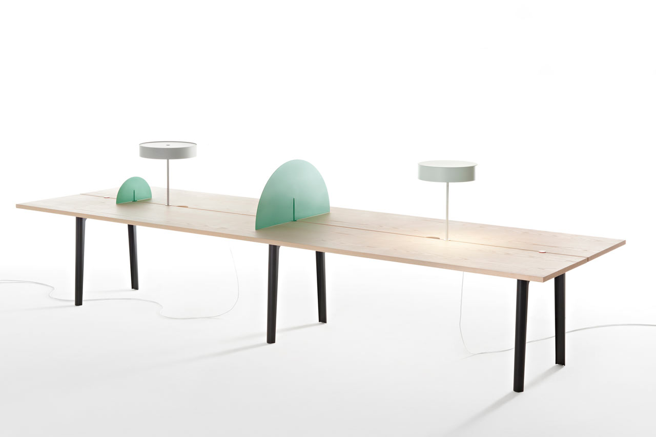 The Offset Table is an ideal solution for shared and open workspaces as it can accomodate several people