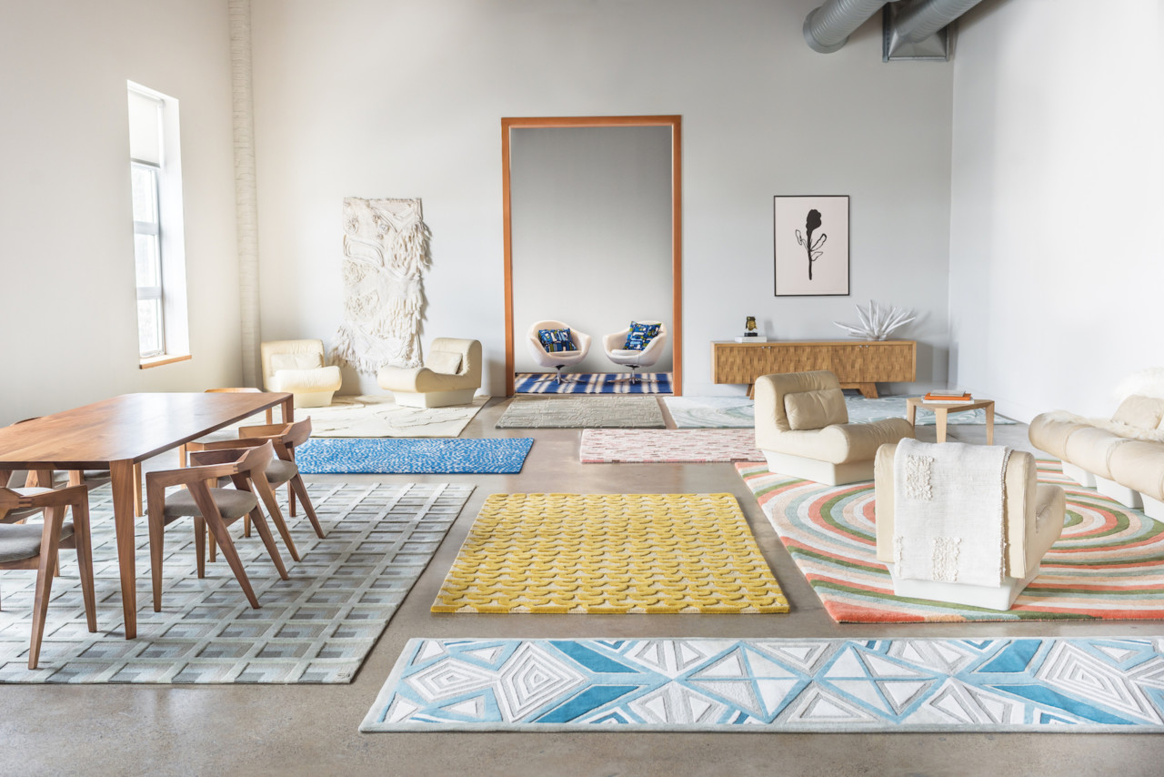 This bold and colorful rug collection represents individuality and various people's characters with patterns and shades