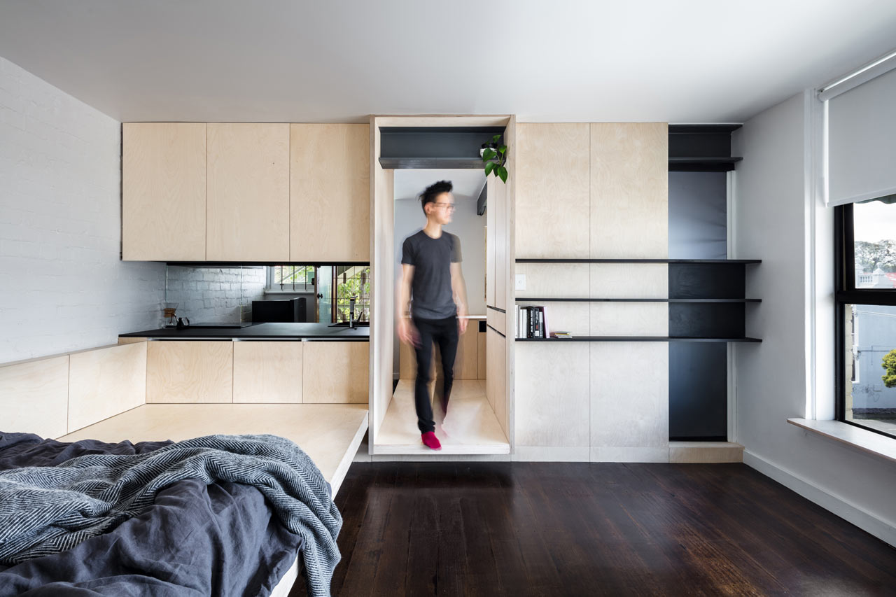 This modern micro apartment is a great example of how a small dwelling can have it all