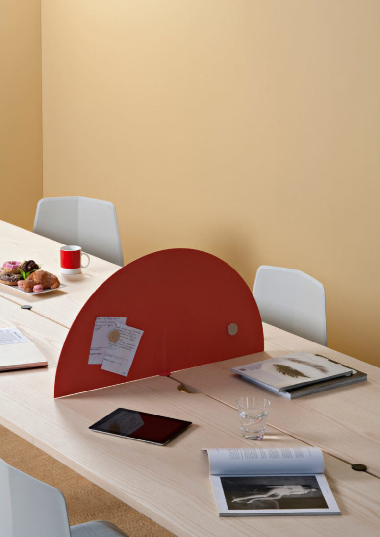 At home you can use it as a functional table for dining and working - just add a divider