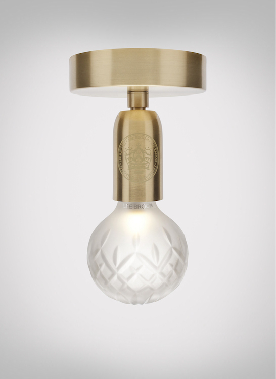 The bulb design is inspired by glass cutting and various whiskey glasses
