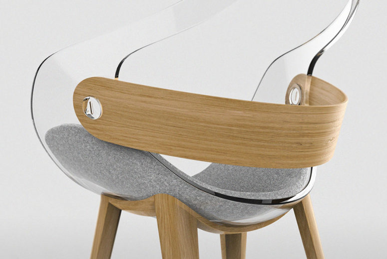 The contrast between the materials makes it look wow and the chair stands out with such a design