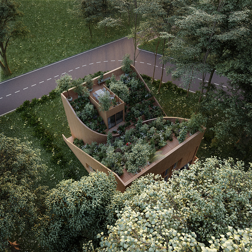 The house is surrounded with forests and it feels like in the countryside with a garden