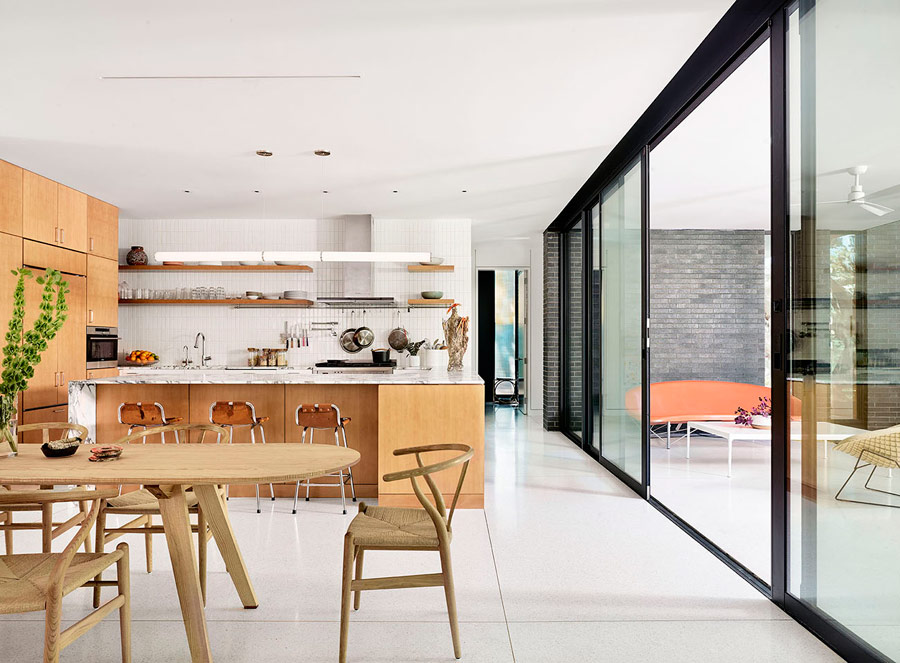 The whole layout can be easily opened to the terrace for outdoor indoor living