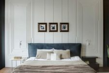 03 accent your bedroom walls with some modern-looking molding