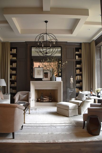 the ceiling here is decorated with molding that adds elegance and chic