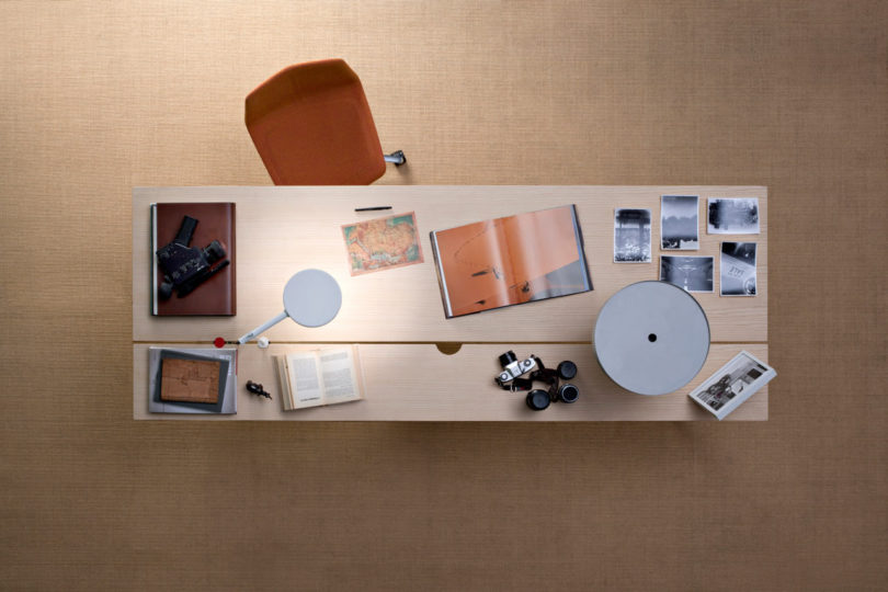 spacious working table for a freelancer