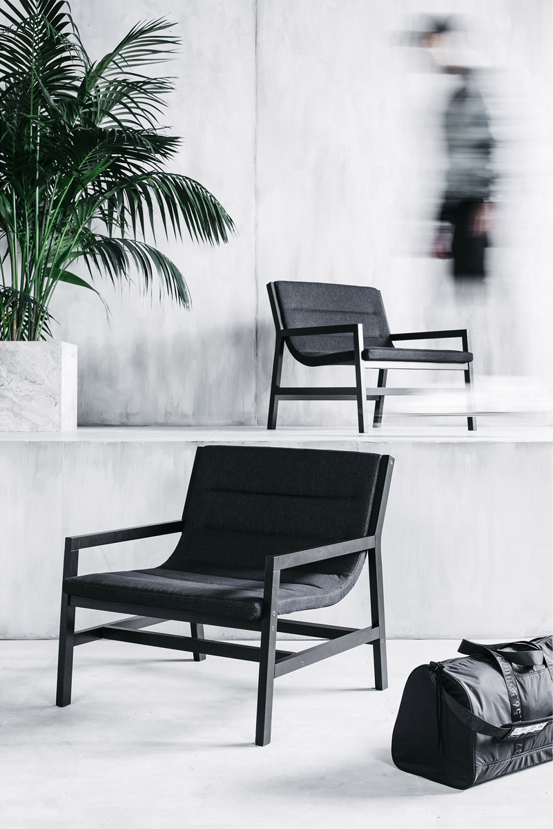 This chair and a bag are also part of the collection