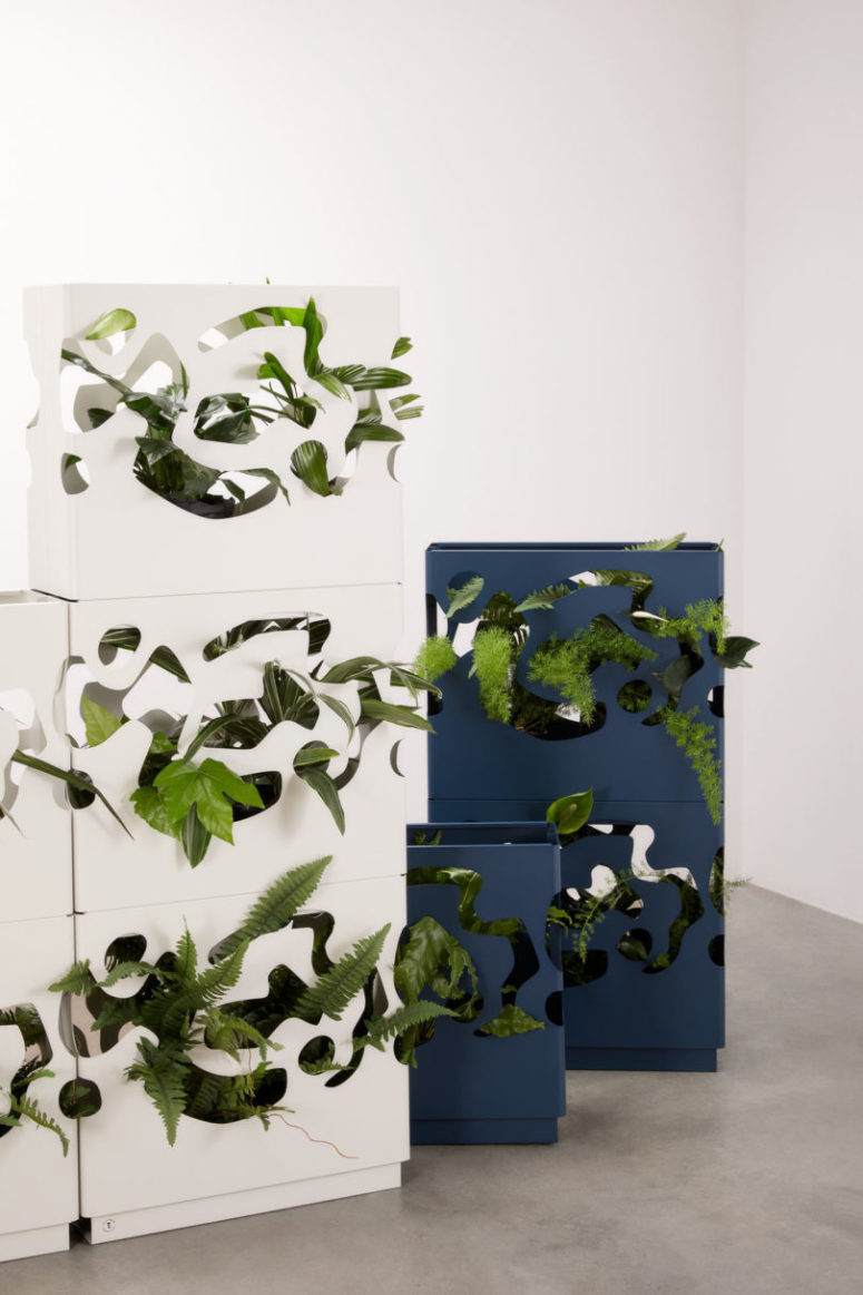 This is a very chic addition to any contemporary interior, your plants will become part of decor