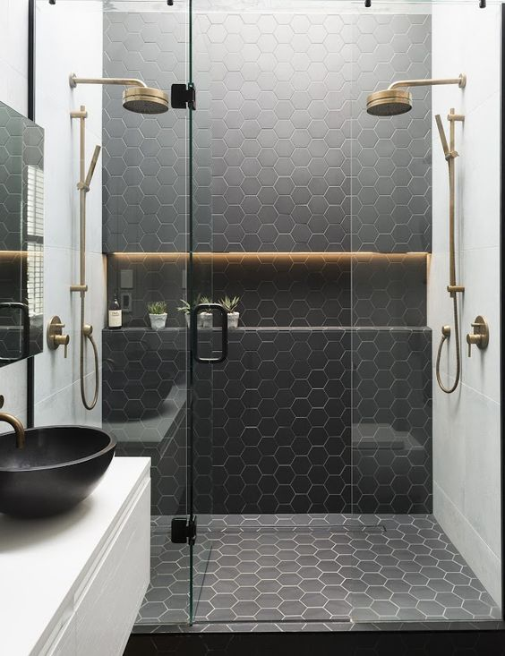 tiles are a great option, which is water-resistant, and that is important for dump spaces like a bathroom