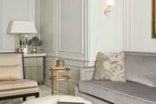 09 a luxurious living room requires some special wall treatment and here it is – these are classic moldings